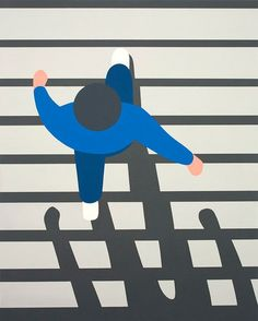 Talking about simplified and stripped down, keep coming across LA-based Geoff McFetridge's colour block, sunny, playful output.