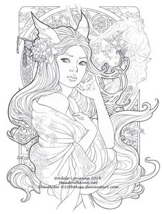"""Beautiful Secrets -lineart"" Adele Lorienne Meadow Haven"