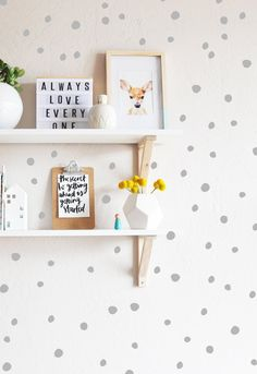 "136qty - Tiny Hand Drawn Dots Sizes range from .75""-1.5"" in diameter Fully removable and reusable wall decals that will brighten and add character to any room. **PLEASE NOTE THAT METALLIC VINYL IS NOT"