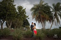 An intimate picture of Anushree + Vivek in the brush before their #PGAwedding . Photo by - Haring Photography