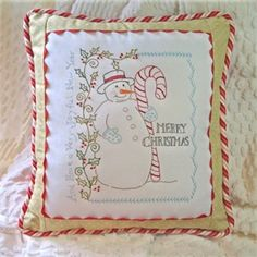 Valentine Wreath Embroidery and Sewing Crabapple Hill Studio Pillow Pattern