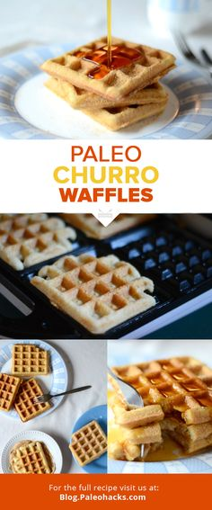 Like waffles? Then you'll love these crispy churro waffles dusted in cinnamon sugar! They're the perfect breakfast treat or Paleo dessert! For the full recipe visit us at: http://paleo.co/churrowaffles #paleohacks #paleo