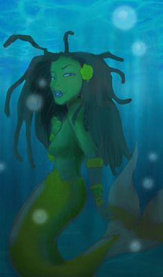 """Nu Aqua"" mermaid art by ScoobyKun"