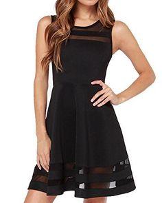 Face N Face Women's Mesh Slim Sleeveless Short Mini Flare Dress $16.99