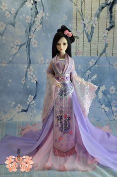 2013 NEW design Customize 1/3 1/4 BJD SD Doll Dress Chinese Ancient Costume Outfit-Meiyi