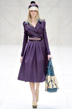 Gorgeous purple coat.  Burberry Prorsum Spring 2012