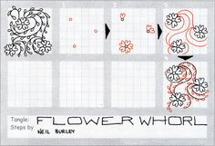 Flower Whorl - tangle pattern