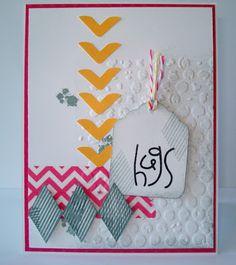 Washi Tape Happy Harlequins stamp set PTI Paper Smooches Sentiment Sampler