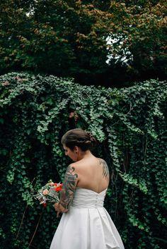 j hannah photography, columbus photographer, wedding photography, bride portrait, bride tattoos, ivy