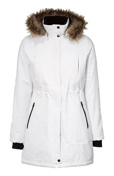 De fedeste Happy Holly Parka Offwhite Happy Holly Overdele til Outlet i behageligt materiale