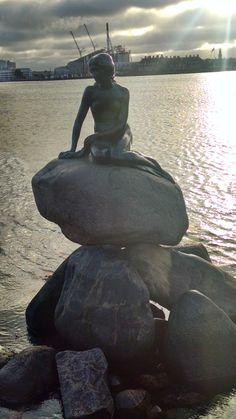 Little Mermaid statue in Copenhagen, Demmark