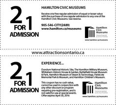Hamilton Children's Museum - 2015 Summer Coupon Ontario Attractions, Children's Museum, Historic Homes, Hamilton, Coupons, Tourism, Summer, Historic Houses, Turismo