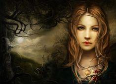 Artwork by Eve Ventrue Fantasy Witch, Gothic Fantasy Art, Witch Art, Fantasy Images, Fantasy Women, Eve Ventrue, Wiccan, Magick, Vikings