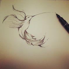 #art #tattoo My Humming-bird =) I did it this year! More design? follow me on tumblr too http://portfolio-myriam.tumblr.com/ instagram: mymy_la_patate