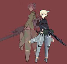 Erica Hartmann from Strike Witches with – Image Courtesy of: Humikane Shimada Anime Military, Military Girl, Brave Witches, Strike Witches, Anime Stars, Anime Characters, Fictional Characters, Manga Pictures, Anime Comics