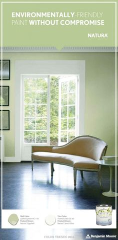 Environmentally-Friendly Paint Without Compromise. Benjamin Moore Natura Paint. [ad]