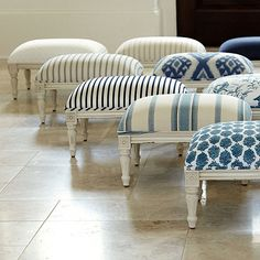 Tybee Blue Fabric by the Yard 2019 The Tybee Blue Fabric by the Yard features an ivory and blue Ikat diamond medallion pattern printed on a soft cotton blend. The post Tybee Blue Fabric by the Yard 2019 appeared first on Fabric Diy. Farmhouse Upholstery Fabric, Farmhouse Fabric, Velvet Upholstery Fabric, Fabric Ottoman, Chair Upholstery, Table Furniture, Painted Furniture, Home Furniture, Redoing Furniture
