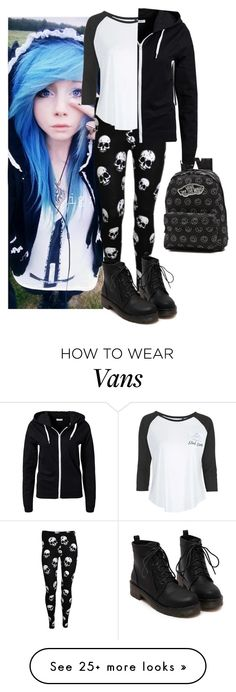 """""""i Don't wanna go to school!"""" by jenn265 on Polyvore featuring Mode, Vans, Tee and Cake und Jacqueline De Yong"""