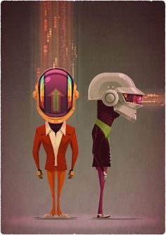 Daft Punk by James Gilleard