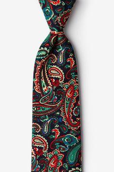 Navy Blue Cotton Carrollton Tie | Ties.com