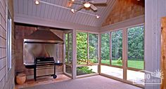 3 Season Porch Design Plans Ideas Sandstone Aluminum Frame Three Room With Custom Gable Roof Interior