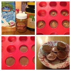 Frozen Mini Chocolate PB Cups! - The Kitchen Table - The Eat-Clean Diet®