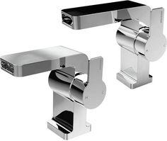 Bristan Exodus waterfall basin and one hole bath filler tap pack in chrome. Bristan Taps, Bath Taps, Bathroom Taps, Cool Kitchens, Basin, Waterfall, Chrome, Shower, Modern