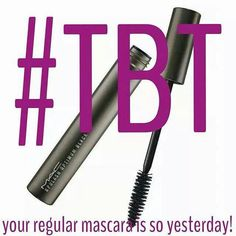 """Stop living in the past!! Younique's 3D fiber lashes will make it """"Throw Out Thursday"""" for your old mascara!!! Get onboard here: www.youniqueproducts.com/AshleySingleton"""