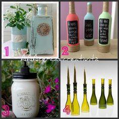 Idee per riciclare contenitori e bottiglie di vetro