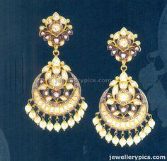 #kundan #chandbali #earrings #polki