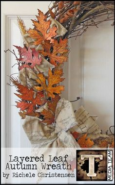 Autumn Wreath by Richele Christensen | www.timholtz.com