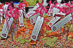 Candy Theme Place Card Whisks - mazelmoments.com