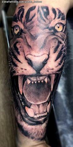 Tatuaje hecho por Ismael Hidalgo de Barcelona (España). Si quieres ponerte en contacto con él para un tatuaje/diseño o ver más trabajos suyos visita su perfil: https://www.zonatattoos.com/poker_tattoo  Si quieres ver más tatuajes de tigres visita este otro enlace: https://www.zonatattoos.com/tag/155/tatuajes-de-tigres  Más sobre la foto: https://www.zonatattoos.com/tatuaje.php?tatuaje=109363