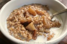 Have you ever tried steel cut oats before? Wowza! Talk about a stick to your ribs kind of food. I started a batch of steel cut oatmeal with apples and brown sugar in the crock pot last night and by early this morning they were ready. How's that for an easy peasy breakfast? Plus, as …