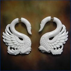 fake gauge earrings. I just don't want the commitment of gauging my ears, so these are perfect!