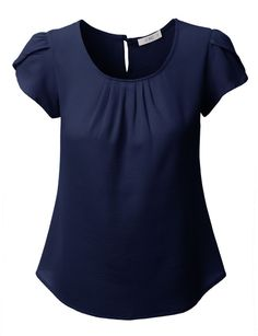 Step out this season in this loose short sleeve chiffon blouse top. Made from a lightweight and ultra soft chiffon material for all day comfort. Wear this chiffon top with skinny denim jeans and heels Loose Shorts, Work Attire, Blouse Designs, Blouses For Women, Chiffon Tops, Chiffon Blouses, Outfits, Chiffon Material, Denim Jeans
