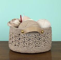 #Crochet basket pattern for sale from @gleefulthings