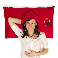 HoodiePillow Pillowcase — perfect for dealing with a roommate who snores, or doesn't turn off their light till late.