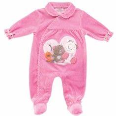 ddbeb960f05bf Noukies Pyjama Velours Fuschia Iris Et Babette chez Doudouplanet.com -  20556 Vetement Bebe Naissance