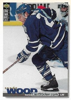 RANDY WOOD 1995-96 TORONTO MAPLE LEAFS Upper Deck NHL Collector's Choice 1995-1996 - Collection preview - laststicker.com Hockey Cards, Baseball Cards, Florida Panthers, Buffalo Sabres, San Jose Sharks, Edmonton Oilers, Vancouver Canucks, Trading Card Database, Toronto Maple Leafs