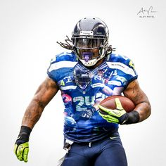 Seattle Seahawks #24 Marshawn Lynch