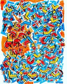 "Linofiori on Instagram: ""ASTROLABRADOR Acrylics on paper 50*65cm . . . . . . . . #astratto #pitturacontemporanea #pittore #denbosch #zuidholland #kunstwerk #kunst…"" Abstract Expressionism, Abstract Art, Modern Art, Contemporary Art, Happy Art, Leiden, Acrylics, Bright, Orange"