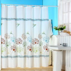Lavish Home Polyester Shower Curtain with Buttonhole | Wayfair
