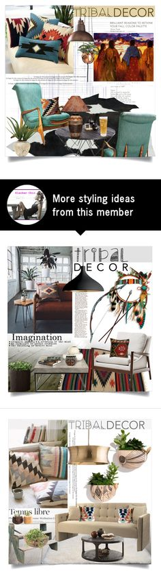"""""""Native American Tribal Decor"""" by clotheshawg on Polyvore featuring interior, interiors, interior design, home, home decor, interior decorating, Sunpan, Universal Lighting and Decor, Schott Zwiesel and John-Richard"""
