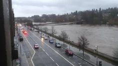 This personally Is the highest I've ever seen the River Tay, but the Perth floodgates are doing a magnificent job. Full credit to Perth & Kinross Council