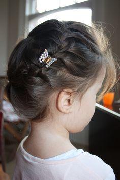 Round braid on short hair