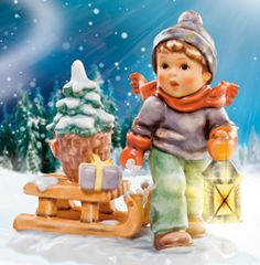 CHRISTMAS IS COMING M. I. HUMMEL FIGURINE