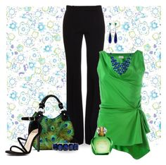 """Colorfully Chic"" by stileclassico ❤ liked on Polyvore featuring Laurel Burch, Anabela Chan, Alexander McQueen, Lanvin, The Bradford Exchange, Mollini, Monet, Alexa Starr, colors and peacock"
