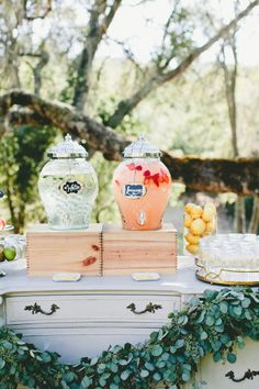 Juice bar: http://www.stylemepretty.com/little-black-book-blog/2015/03/24/rustic-italian-olive-branch-winery-wedding/ | Photography: Onelove - http://www.onelove-photo.com/