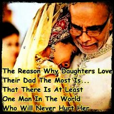 The reason why daughters love their Dad the most is ..that there is at least one man in the world.. ..who will never hurt her.. #fact #father #daughter #life #respect #gratitude #relations #relationships #men #women #male #female #life #wisewords #wisdom #lifelessons #understanding #papa #bapu #pita #myhero #hero #strong #powerful #insta #instagood #instadaily #instalikes #instalove #mere #mypapa #love #gratitude #blessed